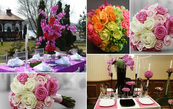 Decoratiuni florale colorate