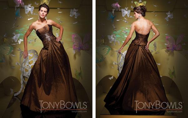 Rochie de seara maro Tony Bowls