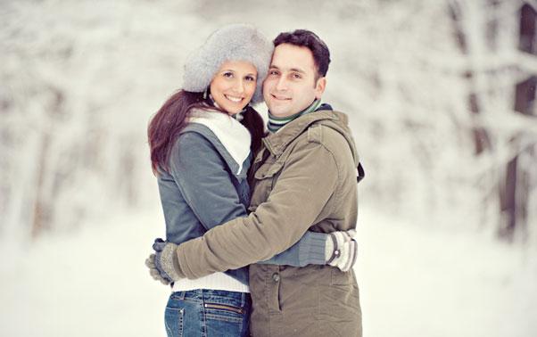 Sedinta foto cuplu iarna Theo Manusaride Bucuresti